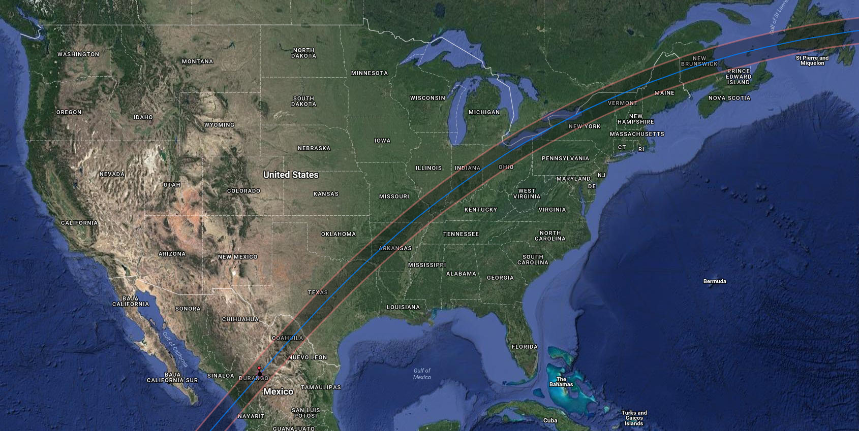 2024 Eclipse Path